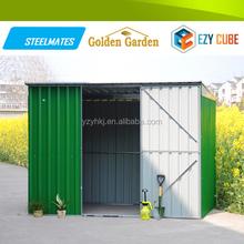 Waterproof Steel Galvanized Sheds with sliding door for garden sales