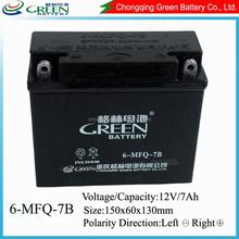 good price maintenance free lead acid motorcycle battery 12N7-BS 12v 7ah battery