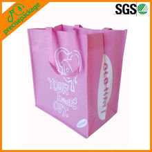 Pink color extra large non woven shopping tote bag (PRA-821)