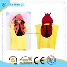 100% cotton velour printed hooded beach towels for kids