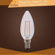 Super long lifetime C35 candle led filament bulb light
