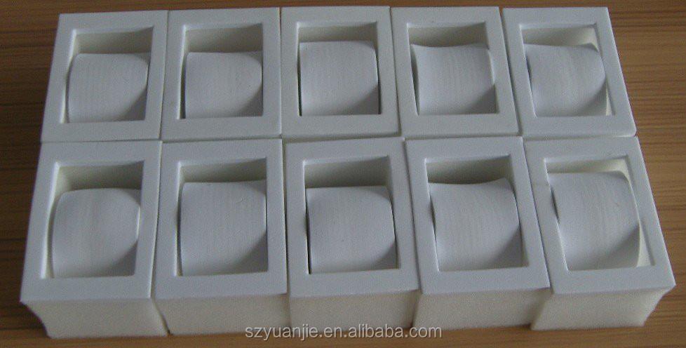 White eva insert for watch, eco-friendly styrofoam material insert for package