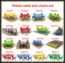 wholesale folding children plastic table and chairs for school furniture, kids study table and chair for kindergarten furniture