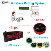wireless waiter call bell system with Guest Calling Help equipment K-336+K-D3