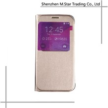 QR Dormancy Flip pu Leather Smart Stay Mobile Phone Case for Samsung Galaxy S6