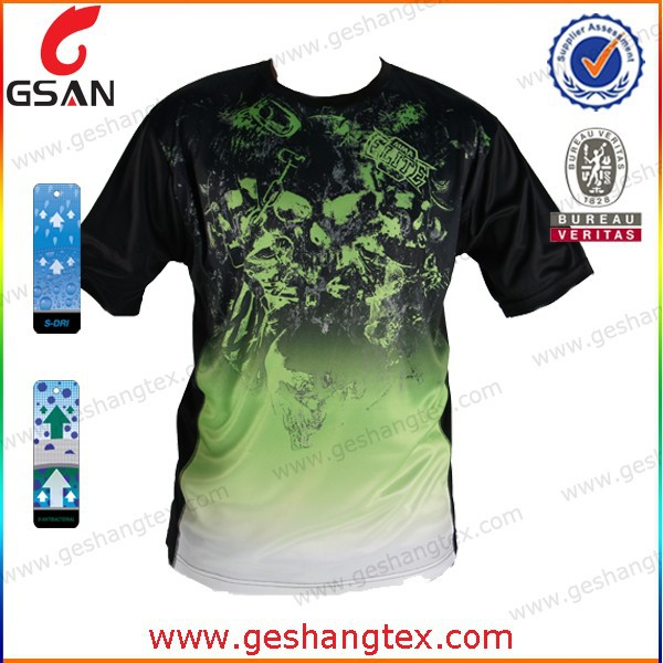 All over printing mens t shirt quick dry sport t shirt for Cheap quick t shirt printing
