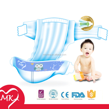 Super absorbency performance big ear type with customized cute cartoon images printed kawaii baby diapers