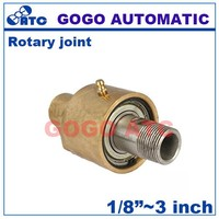 Left-hand thread Unidirectional water brass swivel rotating joint 1 inch slip ring rotary joint electrical connector