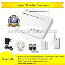 Self-monitoring devices GSM SMS personal auto dialer alarm kits with remote listening and intercom systems