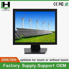 oem touch screen monitor of 15 Inch 1280x720 lcd monitor Industrial Capacitive Touch Screen Monitor