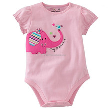 Baby Plain Romper with Embroidery / Baby Suit / Infant romper