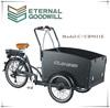 2015 new model three wheel electric Cargo Bike/Electric tricycle model 6 speeds UB9031E-6S