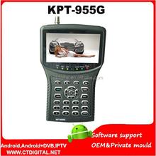 satellite finder/ monitor KPT-955G 4.3Inch LED Monitor dvb-s/ dvb-s2 HD Handheld Sat Finder KPT955G hd satellite finder meter