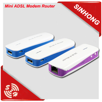 Portable 3G WiFi Router With SIM Card Slot With Power Bank