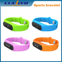 E06 0.69 Inch OLED Touch Bluetooth Smart Waterproof Sports Fitness Tracker Bracelet Watch for Apple Android IOS mobile phone..