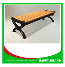 2015 popular park bench design Chinese manufacturer Solid Wood Benches Outdoor Waterproof Benches Solid Wood Benches