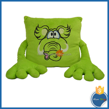 82cm long arms green elephant plush cushion with big hands