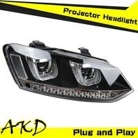 AKD Car Styling VW POLO Headlights 2009-2014 POLO MK6 led Headight Volks Wagen Polo Head Lamp Projector Bi Xenon Hid H7