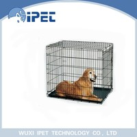 Ipet folding bottom wire grid outdoor pet cage crate for dogs