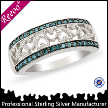 new trendy 925 sterling silver princess/queen crown shape ring,rings crown shaped