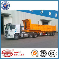 ISO9001:2008 Cartification and semi-trailer used dump truck trailer sale