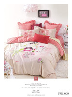 3d reactive printed kids cartoon bedding set 100% cotton king size childrens bed sets luxury wedding latest design bed sheet set