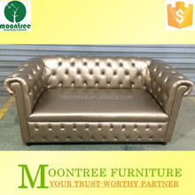 Moontree MSF-1163 Top Quality Leather Upholstered Sofa with Buttons