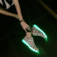 Fashion Musical Note Pattern Adults LED Shoes for Lovers