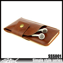PU flip leather mobile cover with earphone bags cellphone case for iphone 5c
