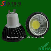 Super brightness 420lm dimmable GU10 COB LED spotlight AC220-240V 5W Sharp COB LED spot light
