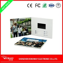 "customized 2.4"" 2.8""3.5"" 4.3"" 5"" 7"" lcd digital video greeting card/business video card"