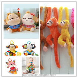 squeeze squeeze module mechanism 2015 hot sale Lovely Stuffed Toy Monkey
