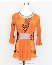 Latest Fashion Ethnic Style Printed Custom Women T Shirt LQ41WC03001