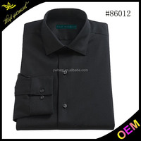 Pure black color african shirts for men