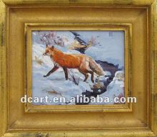 Latest New Design Wolf Animal Painting With Frame
