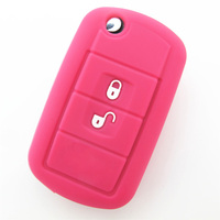 China express fashionable 3 buttons silicone car key case with car logo for LAND ROVER