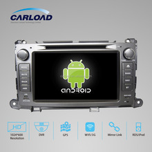 8in Touch Screen android 2 din car dvd gps for toyota sienna with GPS, iPOD, TV, RDS, Wifi, 3G, mirror functions
