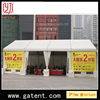 aluminium frame fire,water,sun proof quick tent 850G/SQM top cover 650G/SQM sidewall