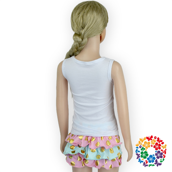 New girls summer outfit ruffle bloomers sleeve tops for Boutique tops