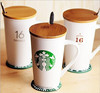 selling new product16 oz ceramic coffee cups starbucks with a lid and spoon