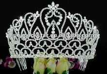 "Wholesale Large Pageant Tall 4.25 "" (10.8 cm) Tiara Crown use Austrian Crystal CT1587"