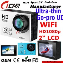 New Version , FHD 1080P Gopro Wifi Action Camera Mini Sport DV 30M Waterproof Action Cam