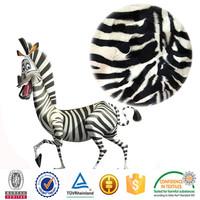 polyester animal skin print zebra-stripe tiger stripe style kurti velvet designs micro velboa fabric