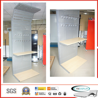 Steel light pegboard display stand with powder coating