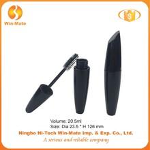 2015 black angled 126*23.5mm flat big volume lady mascara tube
