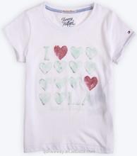 new style children printing 180gsm t-shirt