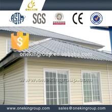Casa de campo económica, Villas de acero ligero, Paneles para muros interiores hechos de fibra de vidrio