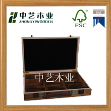 FSC&SA8000 approved reclaimed wooden tea chest for display with handle