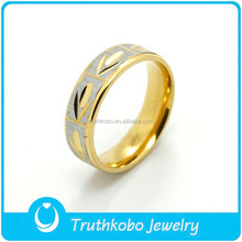 TKB-R0215 Two Tone Gold Plated Rings Friendship for Womens Cheap Fine Jewelry