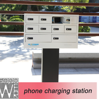 2015 best selling charger 9 docks 2014 new design mobile phone charging station